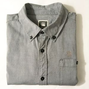 G-Star Raw Ullsted Gray Button Down Woven Shirt